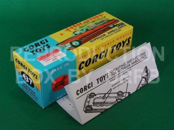 Corgi #437 Superior Ambulance - Reproduction Box